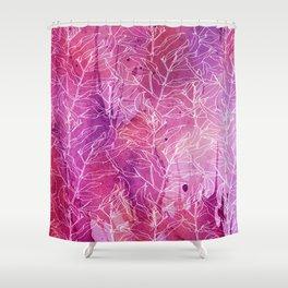 white branchs on watercolor splash Shower Curtain