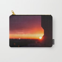 Sun Peaking Around Corner Carry-All Pouch