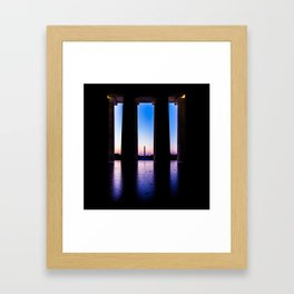 The View From Abe's Window Framed Art Print