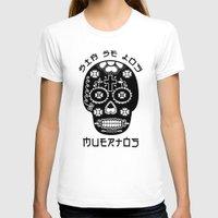 dia de los muertos T-shirts featuring DIA DE LOS MUERTOS by RIGOLEONART