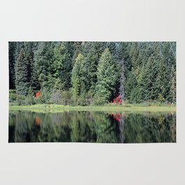Pines and Reflection Rug