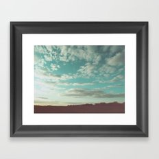 The pale faced traveler Framed Art Print