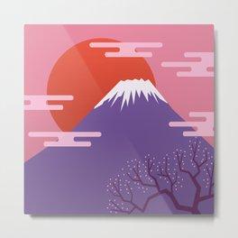 Mountain. Japan. Metal Print