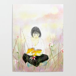 The reading girl Poster