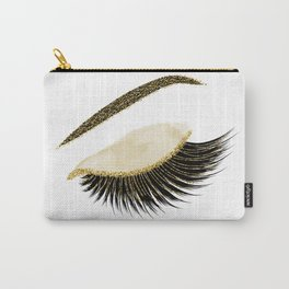 Glittery gold  lashes Carry-All Pouch