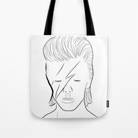 bowie Tote Bags featuring Bowie by Luster