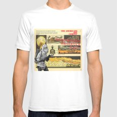 Americans Are Coming Mens Fitted Tee White SMALL