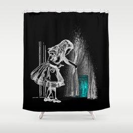 Follow The White Rabbit II Shower Curtain