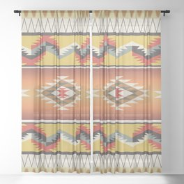 American Native Pattern No. 16 Sheer Curtain