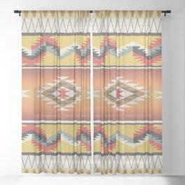 American Native Pattern No. 16 Sheer Curtain