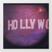 hollywood Canvas Prints featuring Hollywood by anthonygeorgis