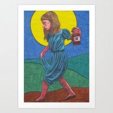Honky Tonk Angel Art Print