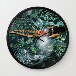 """Under the Levrossos pier"" Wall Clock"