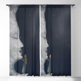 Hugging the moon Blackout Curtain