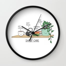 Weekend self-care Wall Clock