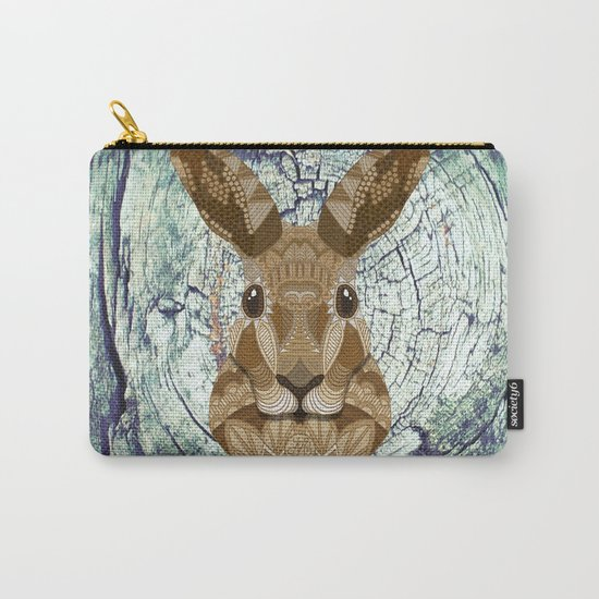 Ornate Hare Carry-All Pouch