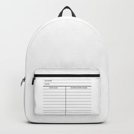 Library Due Date Card Backpack