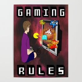 Gaming Rules Poster