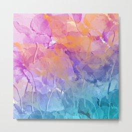 Pastell leaves Metal Print