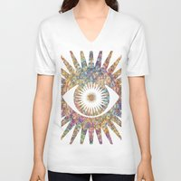 prism V-neck T-shirts featuring PRISM by shutupbek