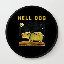 Hell Dog Wall Clock