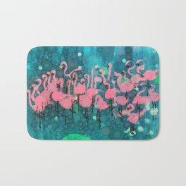 :: Flamingos Among Us :: Bath Mat