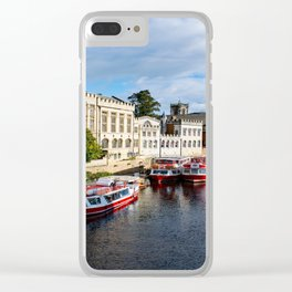 York City Guildhall and river Ouse Clear iPhone Case