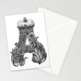 king letter Stationery Cards