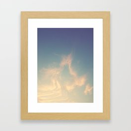 Wandering in the clouds Framed Art Print