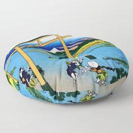 Mt,FUJI36view-Nobotonoura - Katsushika Hokusai Floor Pillow