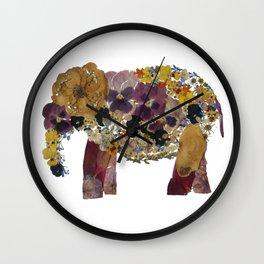 Flower Elephant Wall Clock