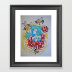 Life is the Flower for Which Love is the Honey Framed Art Print