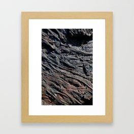 Frozen Flow Framed Art Print