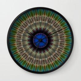 Mutated Glass Mandala Wall Clock