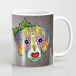 Beagle - Day of the Dead Sugar Skull Dog Coffee Mug