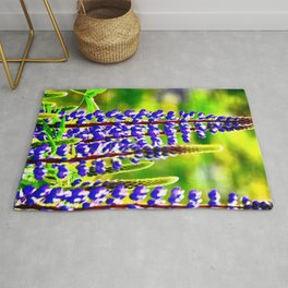 VIBRANT PURPLE LUPINES GLOWING IN SPRING Rug