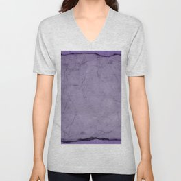 Faux Crushed Velvet. Unisex V-Neck