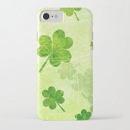 Green Shamrocks iPhone Case