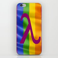 lesbian iPhone & iPod Skins featuring Sappho Lesbian Symbol by SwanniePhotoArt