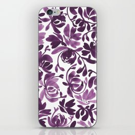Purple Peonies and Poppies iPhone Skin
