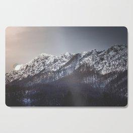Snowy Mountain Range Cutting Board