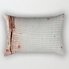 A Golden Moment: a minimal, textured, abstract piece by Alyssa Hamilton Art Rectangular Pillow