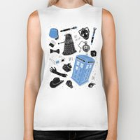 doctor Biker Tanks featuring Artifacts: Doctor Who by Josh Ln