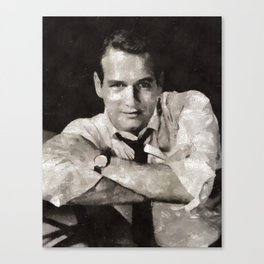 Paul Newman, Hollywood Legend Canvas Print