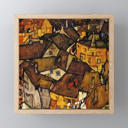 "Egon Schiele ""Krumau - Crescent of Houses (The small City V)"" Framed Mini Art Print"