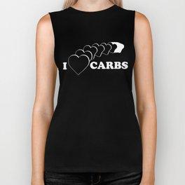 I Heart Carbs Biker Tank