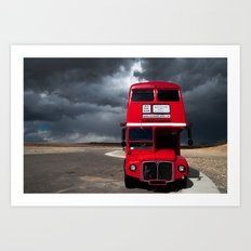 Double Decker & Storm Art Print