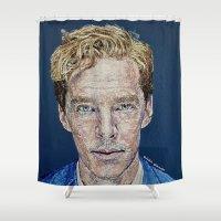 cumberbatch Shower Curtains featuring Benedict Cumberbatch Portrait #5 by RebekahStanhope