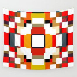 multicolored spatial geometric shellycoat Wall Tapestry