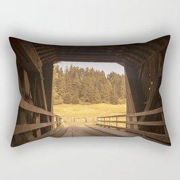 Through the tunnel Rectangular Pillow